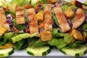 César, Poulet, Salade, Alimentaire, Plaque, Repas